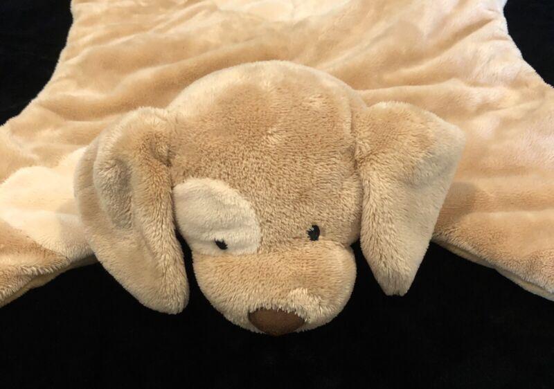 Baby Gund Spunky Puppy Dog Comfy Cozy Brown Tan Plush Security Blanket 58491