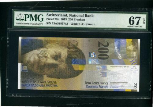 Switzerland Swiss 200 franken francs 2013 - Unc