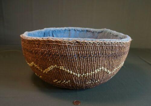 Very Large Native American Northwest Oregon Siletz Basket 1930
