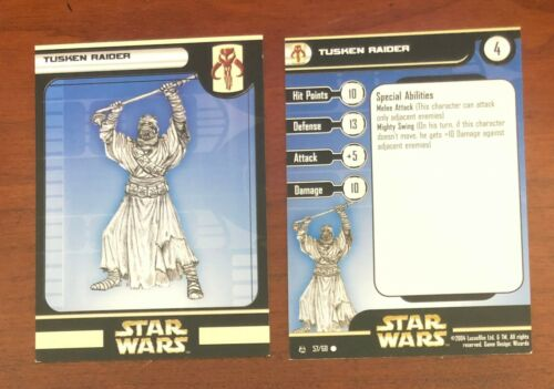 Star Wars Miniatures Tusken Raider, Rebel Storm Trading Card # 57/60