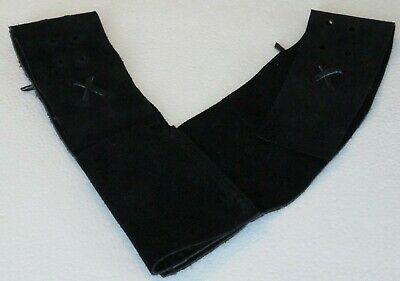 Zorro style  Black Suede Leather Belt Sword Frog