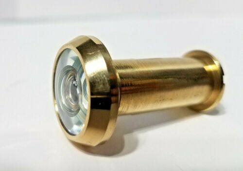 """190 Degree BRASS Fire Rated Door Viewer Peephole Fits Door 1-3/8 To 2-1/8"""" Thick"""
