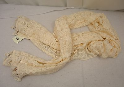 Women's Lucky Brand Lace Textured  Scarf NWT