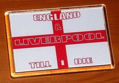 Liverpool & England Cross Of St George Football Flag Fridge Magnet