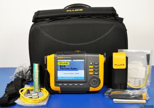 Fluke 810 Vibration Tester - With 810S Sensor and Accessories Vibration Meter