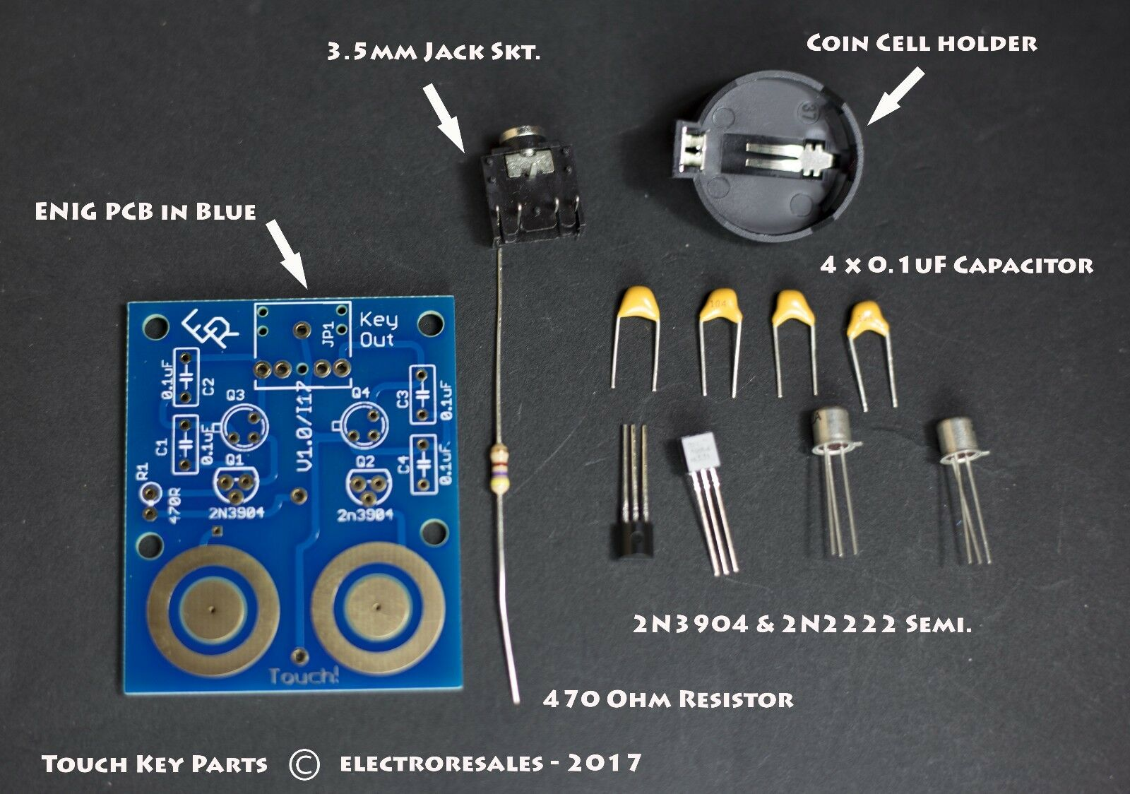 Touch Sensitive Morse Paddle KIT Build for Iambic keying and keyers |  Shopping Bin - Search eBay faster