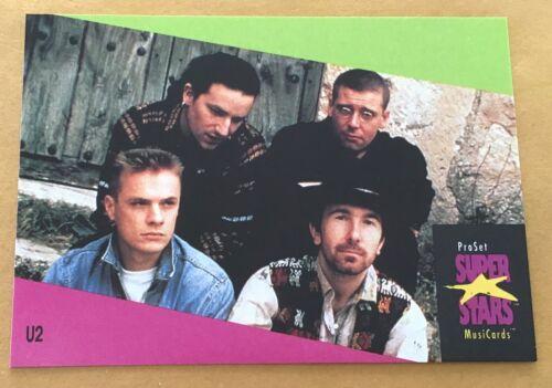 1991 Pro Set Super Stars Musicards U.K. Edition Trading Card #143 U2 NM-MT