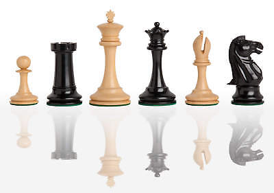 Uscf Sales The B   Co  Luxury Chess Set   Pieces Only   4 4  King   Genuine Ebon