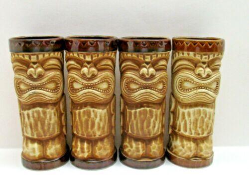 Vintage The Islands Phoenix Arizona Ku God Peanut Finish Tiki Party Mugs x 4