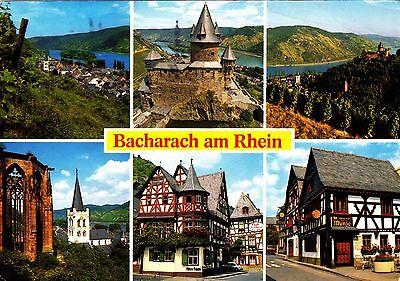Bacharach am Rhein  ,gelaufene Ansichtskarte