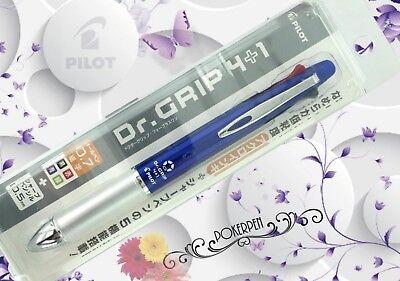 Pilot Hq Dr.grip 41 Multi Pen 4 Colors Ballpoint Mechanical Pencil. Blue