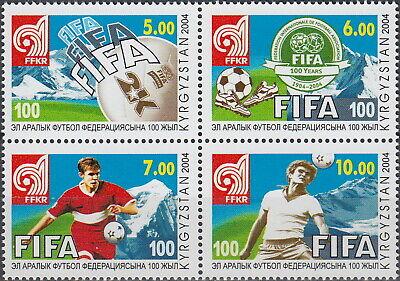 Kyrgyzstan Football 100th Ann FIFA 2004 MNH-3 Euro