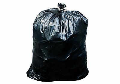 55-60 Gallon Trash Can Liners Garbage Bags Black 32 Case