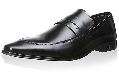 Versace Collection Men's Black Polished Leather Dress Shoes 10 M US, 43 M EU