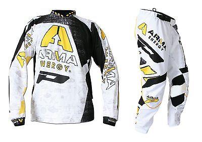 "Progrip MX- Motocross-Enduro Kit Arma Energy White 32"" Waist - Large Shirt"