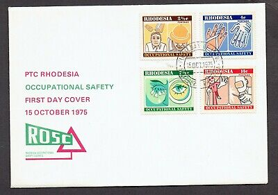 RHODESIA 1975 OCCUPATIONAL SAFETY FDC