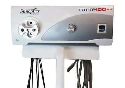 Sunoptics Surgical Titian 400 Hp Light Source Sunoptics Surgical Headlight Used