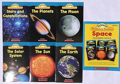 Space Science Vocabulary Readers Childrens Science Books + Teaching Guide Lot -