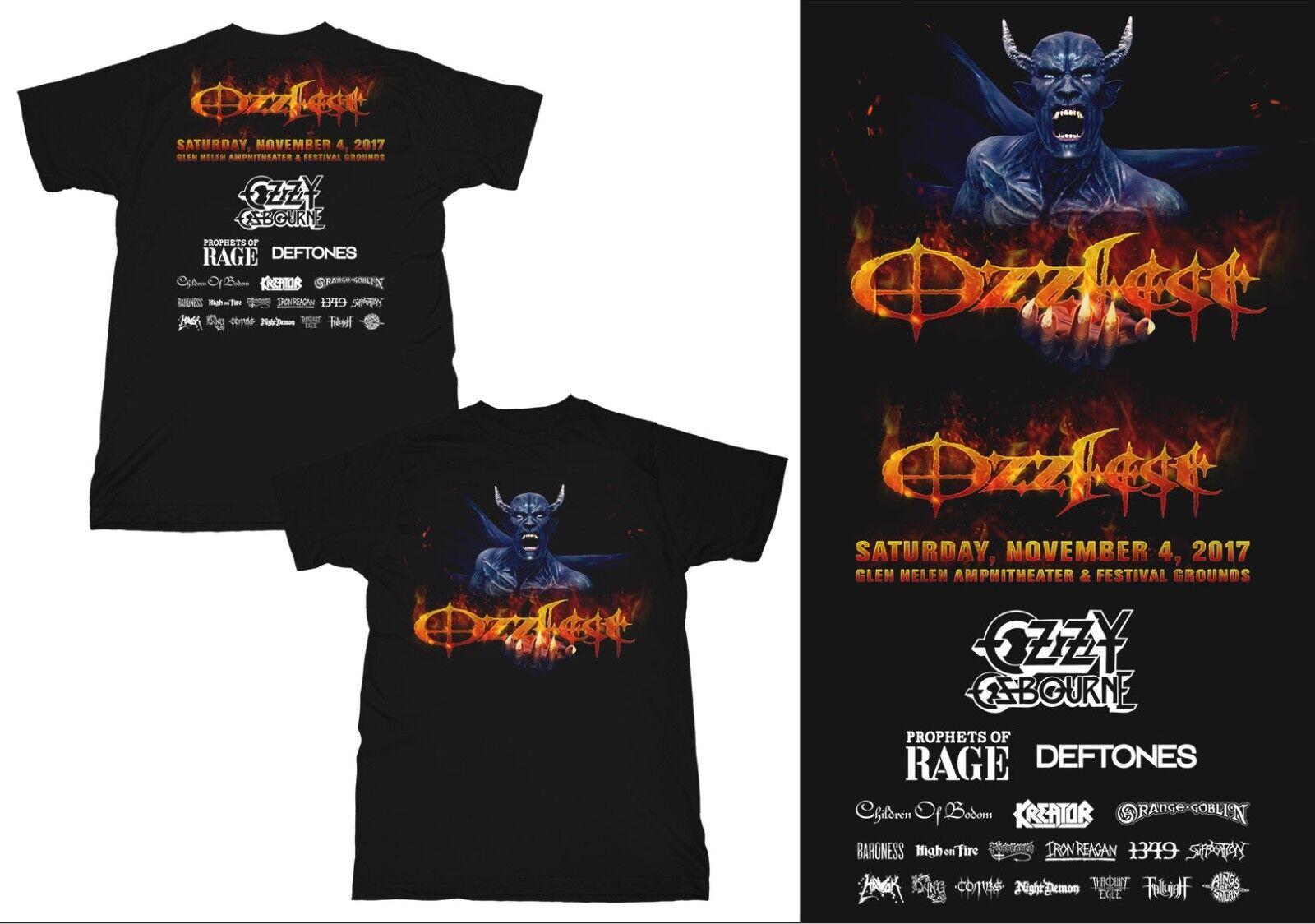 OZZFEST 2017 FESTIVAL T-SHIRT Ozzy Prophets of Rage Deftones Kreator Baroness