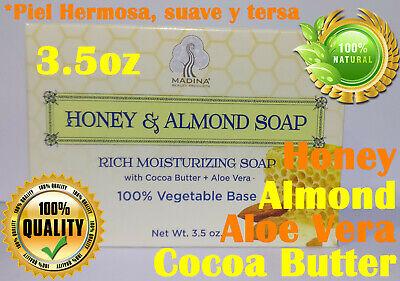 Sweet almond oil, honey soap bar, Piel Hermosa Radiante Suave y tersa !!!