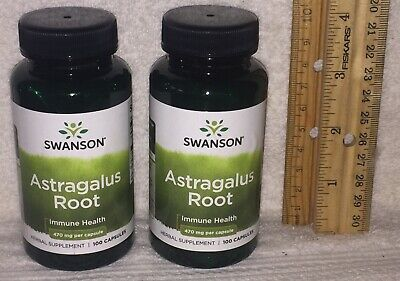 TWO Astragalus Root, from Swanson.  200 capsules (total), 470 mg each