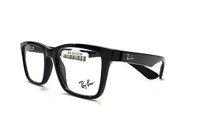 Ray Ban RB 7025 2000 Eyeglasses 53 - 17 - 145 Shiny Black Flexible Plastic (Ray Ban Plastic Frame Glasses)
