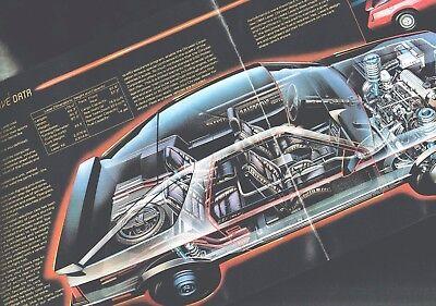Lrg. 1984 Chrysler LASER Brochure / Catalog with Color Chart: XE, TURBO