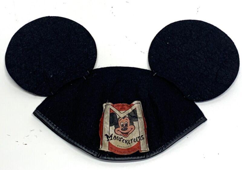 Vintage 1950s MICKEY MOUSE CLUB MUSKETEERS FELT EARS Hat