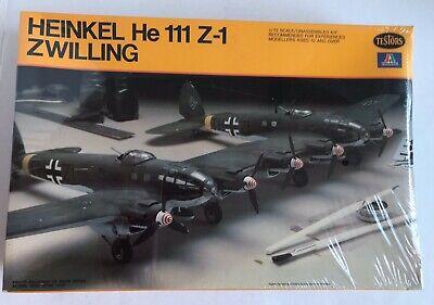 NISB Heinkel He 111 Z-1 Zwilling 1/72 1979 Italaerei Plastic Model Kit 867 WW2