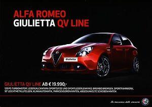 Alfa Romeo Giulietta QV Line 10 / 2015 catalogue brochure Autriche - <span itemprop='availableAtOrFrom'>Varsovie, Polska</span> - Alfa Romeo Giulietta QV Line 10 / 2015 catalogue brochure Autriche - Varsovie, Polska