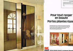 publicite advertising 1980 kazed portes pliantes 2 pages. Black Bedroom Furniture Sets. Home Design Ideas