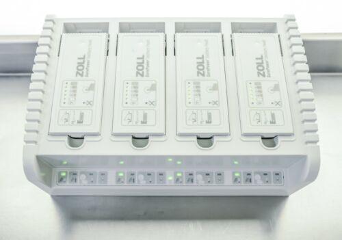 ZOLL SurePower Charging Station 8050-0030-01 w/ 4x 8019-0535-01 E / R Batteries