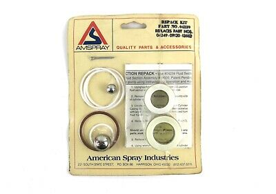 Amspray Wagner Airless Repack Kit Fluid Section 04239 04249 09120 13862