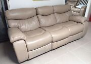 Genuine Leather Tan 3 Seater Couch/Sofa & Armchairs Taylors Lakes Brimbank Area Preview