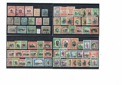V061 North Borneo M&U collection on 4cards, some postal