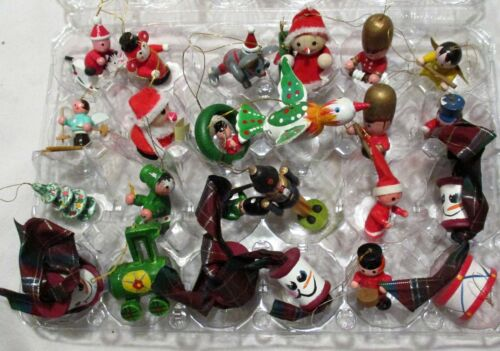 Vintage Small Wooden Christmas Ornaments (12)