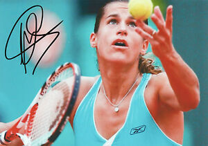 AMELIE-MAURESMO-Signed-12x8-Photo-TENNIS-Champion-WIMBLEDON-COA