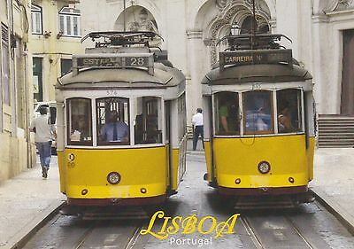 Ansichtskarte: Straßenbahnen Lissabon Linie 28 - eletrico - an der Kathedrale
