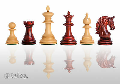 Uscf Sales The Teramo Luxury Chess Set   Pieces Only   4 4  King   Blood Rosewoo