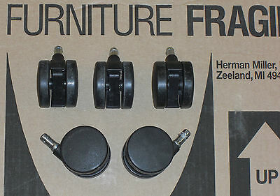 5 Herman Miller Aeron Mirra Celle Embody Sayl Standard Bb Casters Wheels