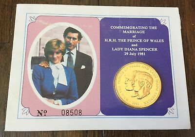 1981 Prince of Wales & Lady Diana Spencer Royal Wedding Commemorative Coin