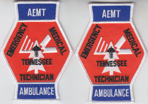 Tennessee AEMT AMBULANCE Advanced Emergency Medical Technician 2 patches TN EMT