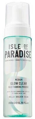 Isle Of Paradise GLOW CLEAR SELF-TANNING Mousse~MEDIUM~6.76oz ~ NEW & SEALED!