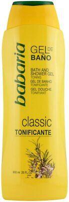 Babaria Classic Gel de Baño Tonificante - 600 ml (8410412021463)