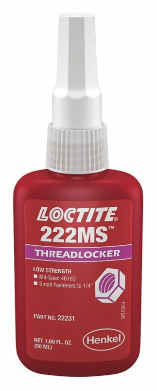 Loctite 22231 Purple 222MS Low Strength Thread Locker, 300 degrees F Max, 50 mL