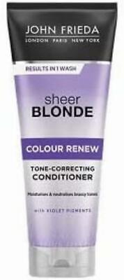 John Frieda Sheer Blonde Violet Crush Tone Correcting Purple Conditioner for...