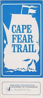 c1970 The Cape Fear Trail Wilmington NC Brochure