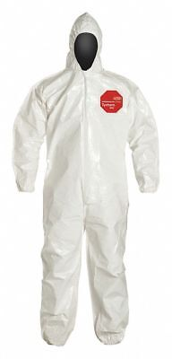 Hooded Chemical Resistant Coveralls Cuff Tychem 4000 5xl Sl127bwh5x001200