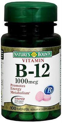 Nature's Bounty Vitamin B-12 1000 mcg Tablets 100 Tablets