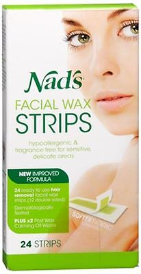 Nad's Facial Hair Removal Strips 24 Each